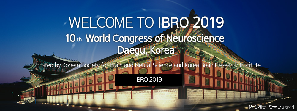 WELCOME TO 2019 IBRO 10th World Congress of Neuroscience Daegu, Korea :hosted by Korean Society for Brain and Neural Science and Korea Brain Research Institute